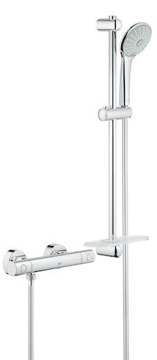 Sprchová baterie nástěnná Grohe Grohtherm 1000 New se sprchovým setem 34286002