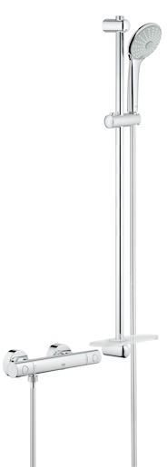 Sprchová baterie nástěnná Grohe Grohtherm 1000 New se sprchovým setem 34321002