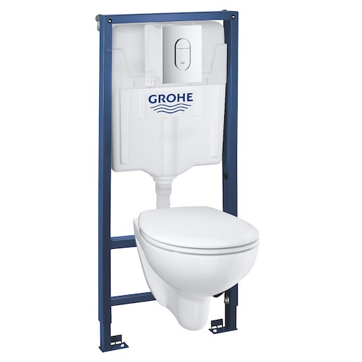 Grohe Rapid SL - Sada pro závěsné WC + klozet rimless a sedátko softclose 39418000