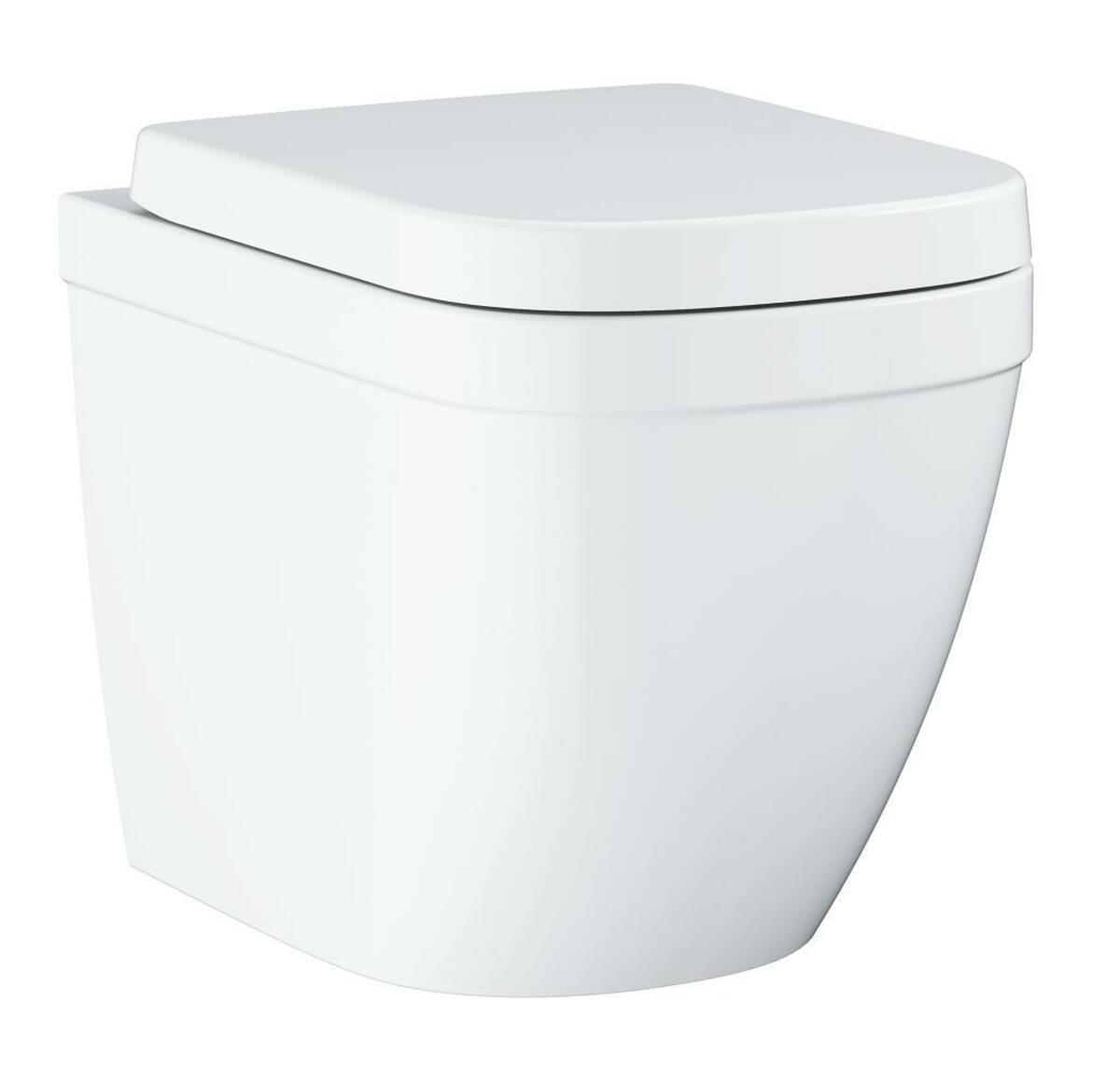 Wc s prkénkem softclose stojící Grohe Euro Ceramic alpská bílá zadní odpad 39839000