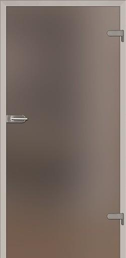 Skleněné dveře Naturel Glasa levé 60 cm hnědé GLASA1H60L