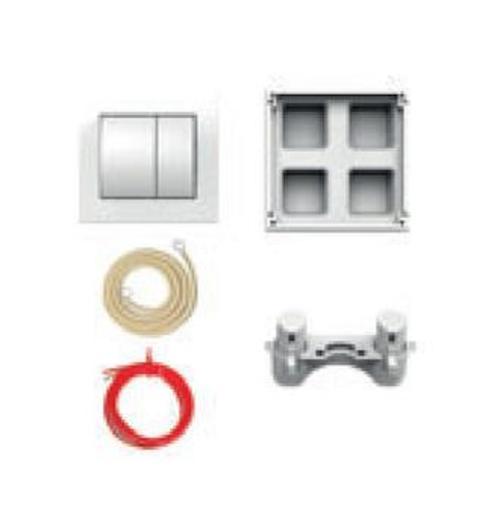 Pneumatické oddálené ovládání Jika plast bílá mat H8956430000001