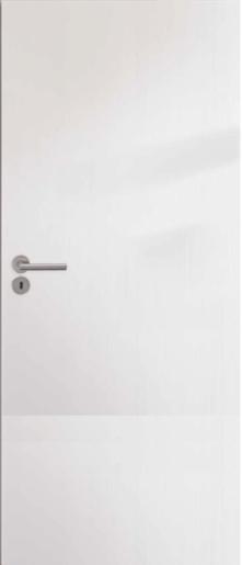 Interiérové dveře NATUREL Ibiza, 80 cm, bílé, folie, panty vlevo, IBIZABF80L