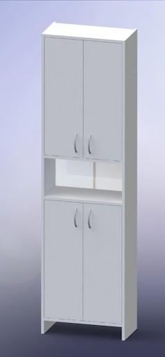 Vysoká skříňka Multi Praxis 50 cm, bílá INCA50 Multi