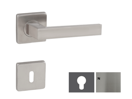 NATUREL Cube nerezová klika s rozetou na klíč - KLIKACUBEWB