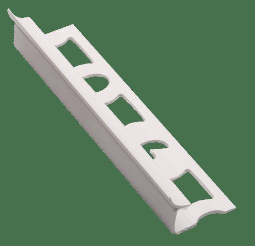 Lišta rohová vnitřní PVC bílá, délka 250 cm, výška 7 mm, LV7250