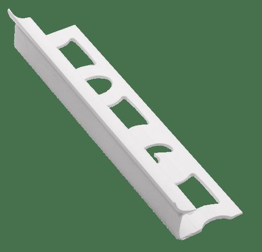 Lišta rohová vnitřní PVC bílá, délka 250 cm, výška 9 mm, LV9250