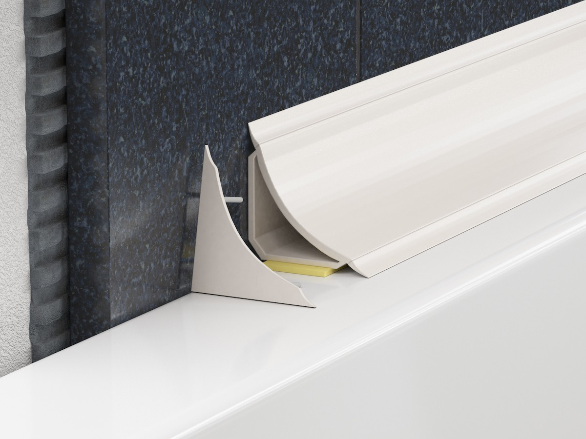 Lišta vanová PVC bílá, délka 185 cm, výška 20 mm, šířka 20 mm, LVL
