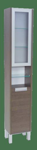 Vysoká skříňka s košem Naturel Modena 36,5 cm, dub šedý MODENAV35K