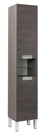 Vysoká skříňka s košem Naturel Modena 36,5 cm, dub šedý, MODENAV35KNEW