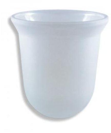 Náhradní skleněná miska k WC štětce Cube Way NDSKLOWCSPIR