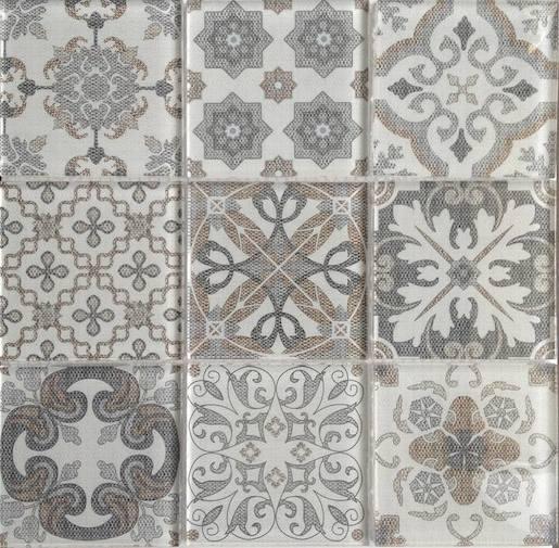 608a0ac01a39 Dekor Premium Mosaic Skleněné obklady mix barev 30x30 cm