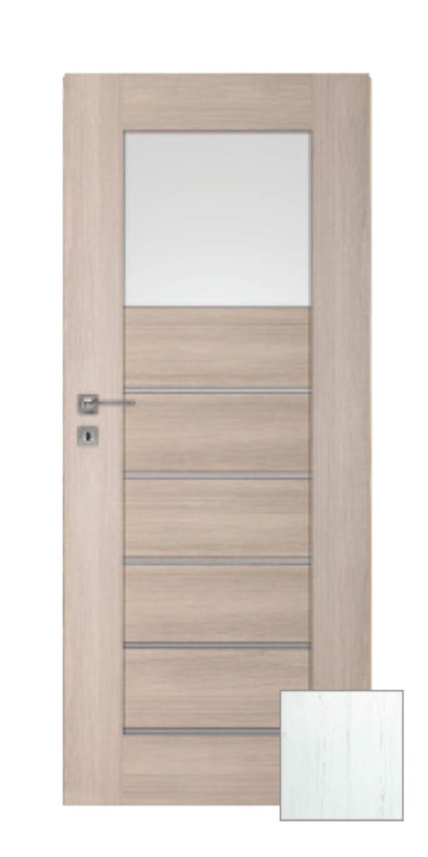 Interiérové dveře Naturel Perma levé 70 cm borovice bílá PERMA1BB70L