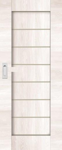 Interiérové dveře NATUREL PERMA, 90 cm, borovice bílá, PERMABB90PO