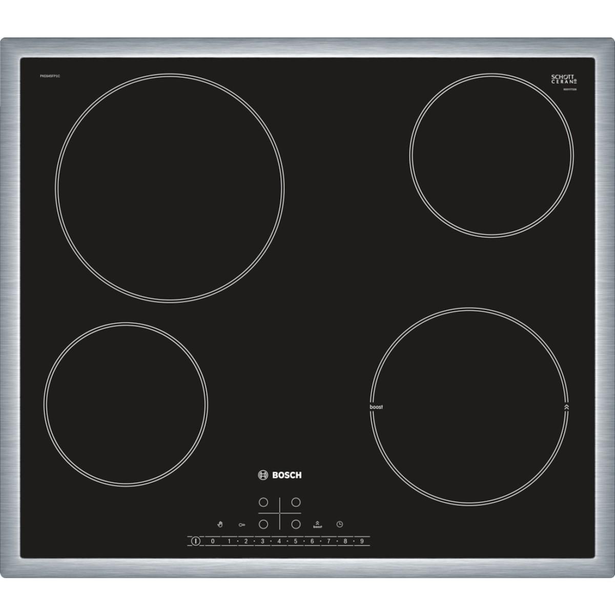 Sklokeramická varná deska Bosch černá PKE645FP1E