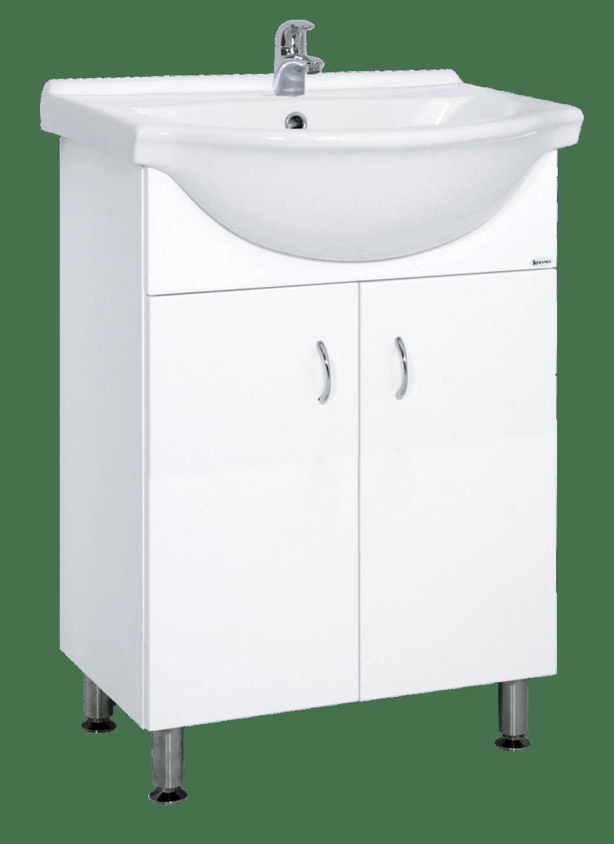 Koupelnová skříňka s umyvadlem Multi Pro 61x50 cm bílá PRO60NOVA