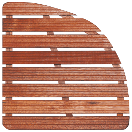 Sprchová rohož-dřevo ČTVRTKRUH 74x74x4cm ROHOZ90S