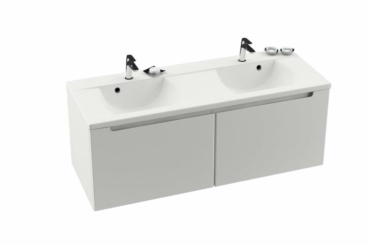 Koupelnová skříňka pod umyvadlo Ravak Classic 130x49 cm bílá X000000422