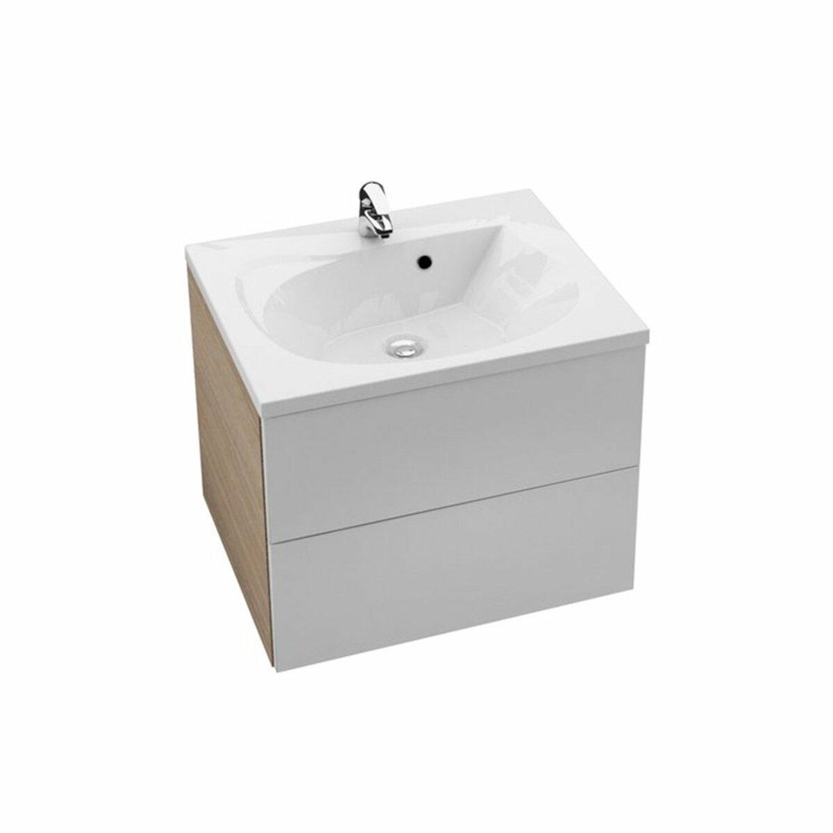 Koupelnová skříňka pod umyvadlo Ravak Rosa 60x49 cm cappuccino/bílá X000000926