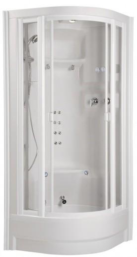 Teiko ECO Serial masážní a parní box 94 x 94 x 236 cm, bílá Teiko