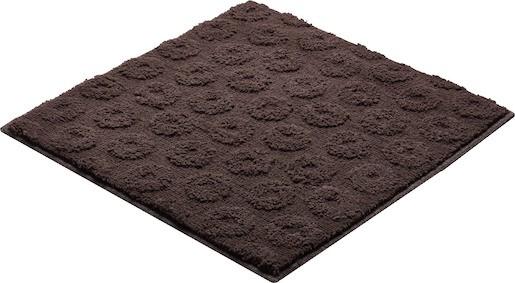 Koupelnová předložka polyester Grund 55x55 cm, hnědá SIKODGLIS554