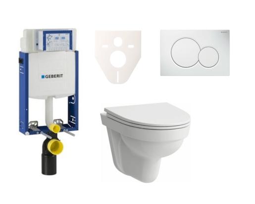 Závěsný set WC Laufen Pro Nordic + modul Geberit Kombifix s tlačítkem Sigma 01 (bílá) SIKOGE2H1