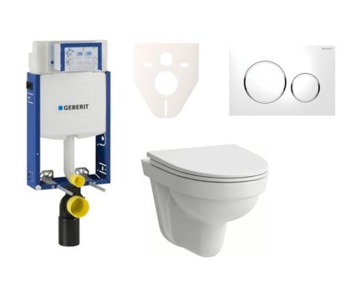 Závěsný set WC Laufen Pro Nordic + modul Geberit Kombifix s tlačítkem Sigma 20 (bílá) SIKOGE2H4
