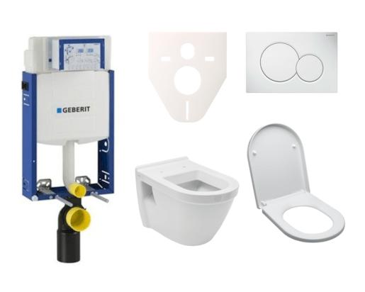 Závěsný set WC Vitra S50, nádržka Geberit Kombifix, tlačítko Sigma 01 bílé SIKOGE2V1