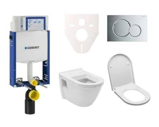 Závěsný set WC Vitra S50, nádržka Geberit Kombifix, tlačítko Sigma 01 chrom lesk SIKOGE2V2