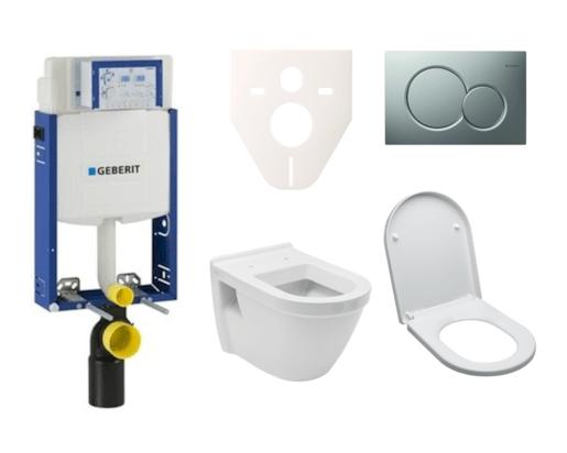 Závěsný set WC Vitra S50, nádržka Geberit Kombifix, tlačítko Sigma 01 chrom mat SIKOGE2V3