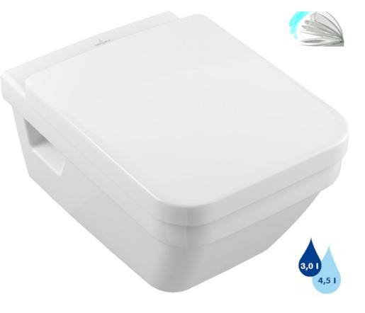 Závěsné WC se sedátkem softclose Villeroy & Boch Provence, zadní odpad, 53cm SIKOSVBOA56851S