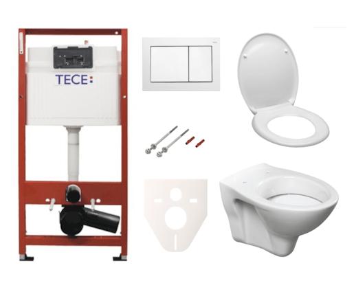 Závěsný set WC S-line + modul TECE s tlačítkem TECEbase (bílá) SIKOTSD0