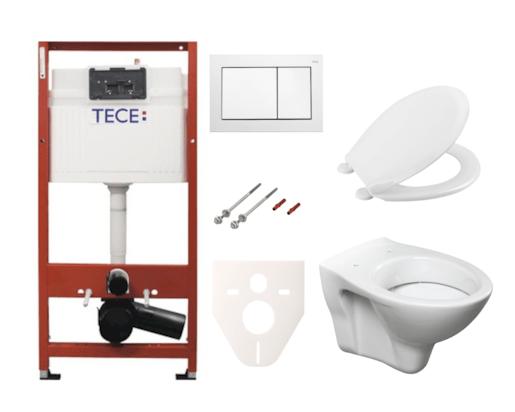 Závěsný set WC S-line + modul TECE s tlačítkem TECEbase (bílá) SIKOTSR0