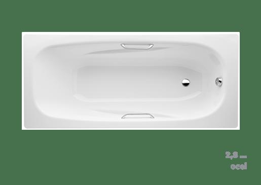 Vana Jika Trento 160x75 cm, smaltovaná ocel 2,8 mm, 170 l SIKOVJAL160