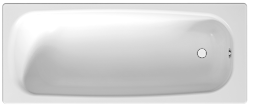 Vana Jika Siena 160x75 cm, smaltovaná ocel 1,8 mm, 200 l SIKOVJTA16075