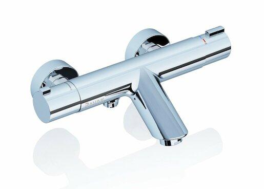 RAVAK Vanová termostatická nástěnná baterie 150 mm, bez setu, TE 022.00/150 X070047