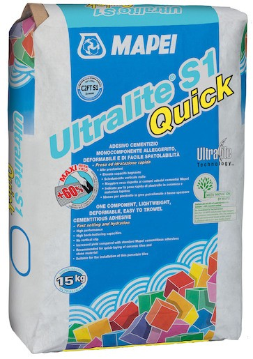 Lepidlo Mapei Ultralite S1 Quick šedá 15 kg C2FT S1 ULTRALITES1Q