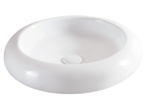 Umyvadlo na desku Glacera Vallone 46x46,5 cm, bez přepadu VA4646