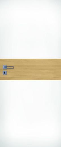 Interiérové dveře NATUREL Vari, 70 cm, pravé, bílé/jilm, VARI10J70P