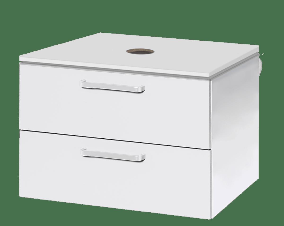 Koupelnová skříňka pod umyvadlo Naturel Vario Dekor 69x45 cm bílá VARIODESK75ZBIBL