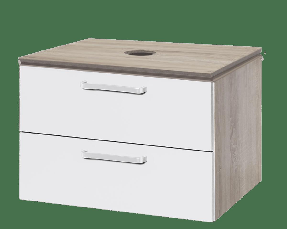 Koupelnová skříňka pod umyvadlo Naturel Vario Dekor 69x45 cm bílá VARIODESK75ZDBBL