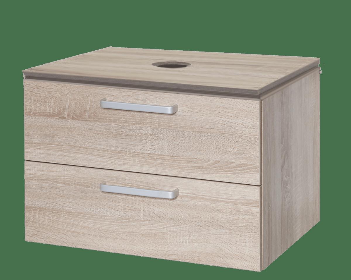 Koupelnová skříňka pod umyvadlo Naturel Vario Dekor 69x45 cm dub bardolino VARIODESK75ZDBDB
