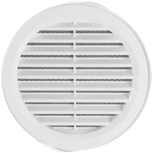 HACO Větr.mříž.kul.prům.10cm síťka, bílá VM100B