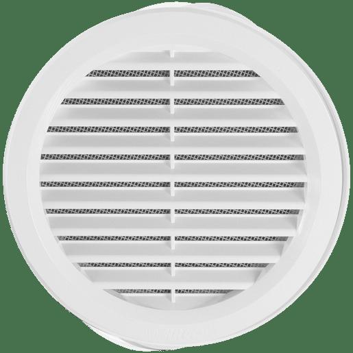 HACO Větrací mřížka 150, bílá kulatá VM150B