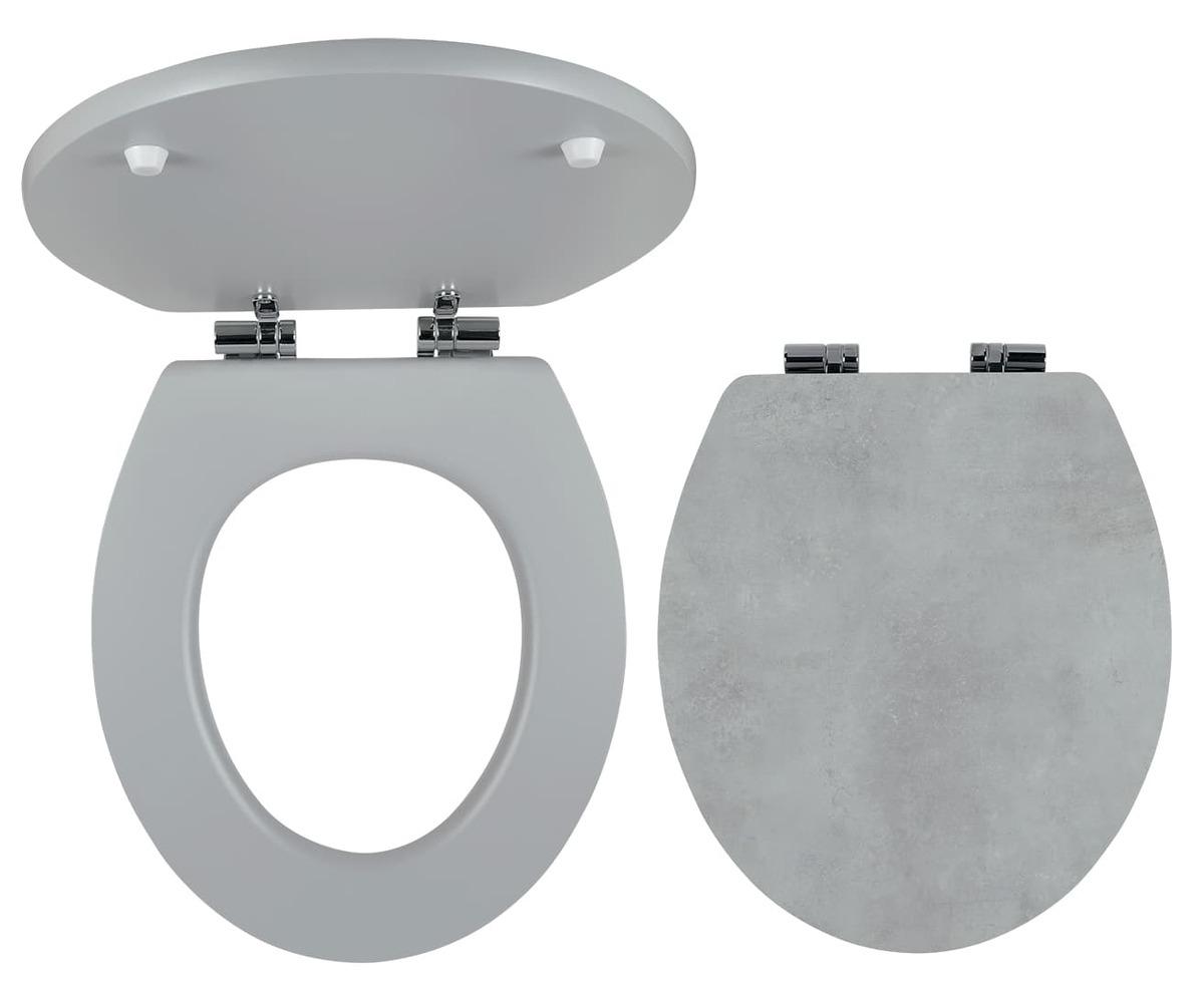 Wc prkénko Novaservis MDF beton WC/SOFTSTONE1