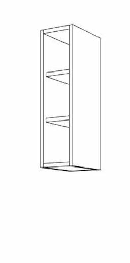 Kuchyňská skříňka regál horní Naturel Gia 20 cm WO2072