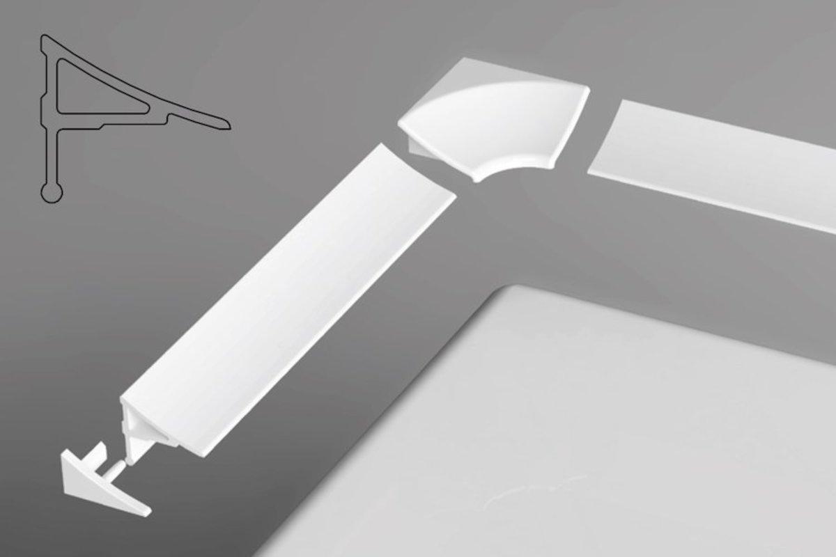 Ravak Krycí lišta 11/2000 bílá XB462000001