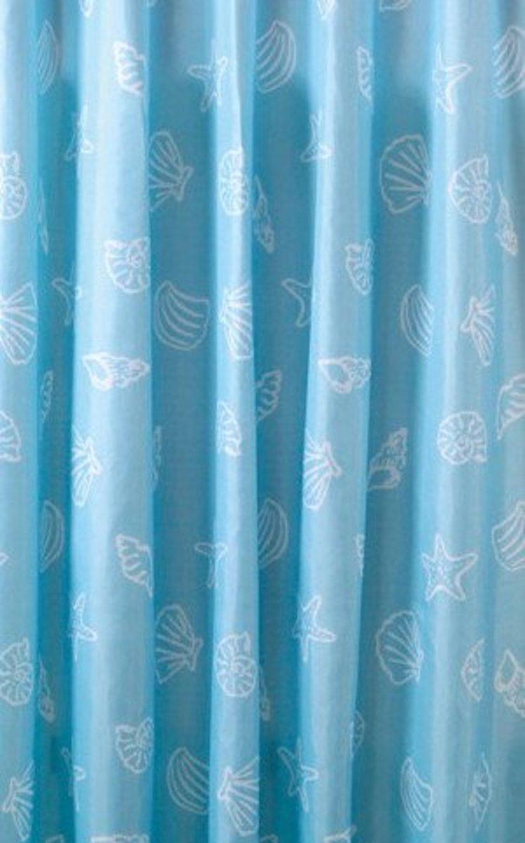 Sprchový závěs Sapho Aqualine polyester modrá mušle 180x200 cm P006