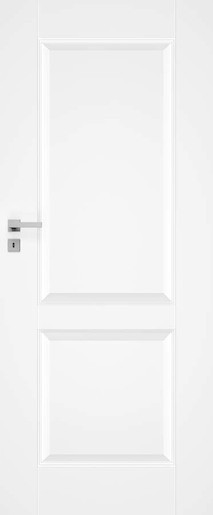 Interiérové dveře NAUREL Nestra10, 60 cm, bílé, lak, levé, WC, NESTRA1060L