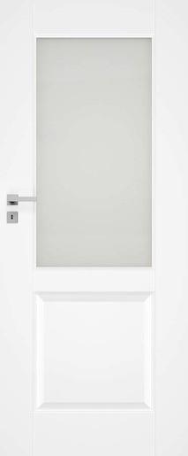 Interiérové dveře NATUREL Nestra11, 80 cm, bílé, lak, pravé, WC, NESTRA1180P